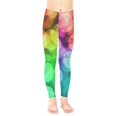 Abstraction Multicolored Glare  Kids  Legging