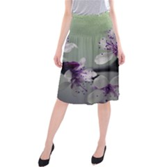 Branch Flowering Cherry Spring  Midi Beach Skirt