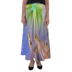 Flower Petals Stamens Flared Maxi Skirt