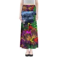 Patterns Colorful Background Dark  Full Length Maxi Skirt
