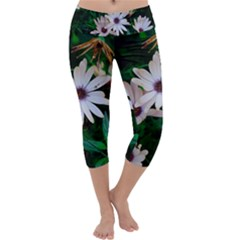 Garden Flowers Capri Yoga Leggings