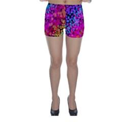 Colorful Community Glare Bright  Skinny Shorts