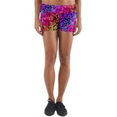 Colorful Community Glare Bright  Yoga Shorts