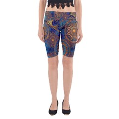 Abstract Pattern R 24 Resize Yoga Cropped Leggings