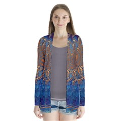 Abstract Pattern R 24 Resize Drape Collar Cardigan