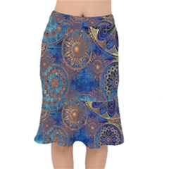 Abstract Pattern R 24 Resize Mermaid Skirt