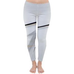 White Abstract  Classic Winter Leggings