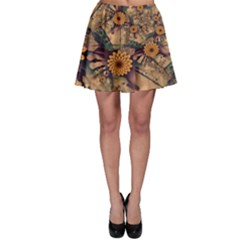 Colors Patterns Lines Surfaces  Skater Skirt