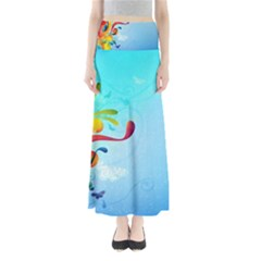 Patterns Multicolored Colorful  Full Length Maxi Skirt