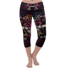Design Drawing Colorful Creative  Capri Yoga Leggings