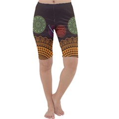 Divination Planets Colorful Rotation Cropped Leggings