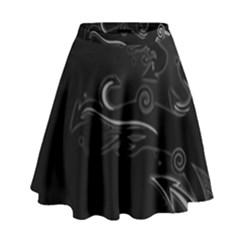 Lines Arrows Patterns Shadows  High Waist Skirt