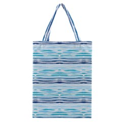 Watercolor Blue Abstract Summer Pattern Classic Tote Bag