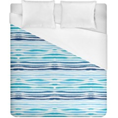 Watercolor Blue Abstract Summer Pattern Duvet Cover (california King Size)
