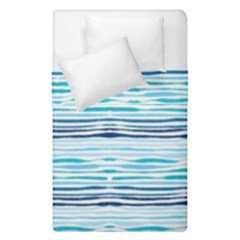 Watercolor Blue Abstract Summer Pattern Duvet Cover Double Side (single Size)