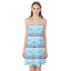 Watercolor Blue Abstract Summer Pattern Camis Nightgown