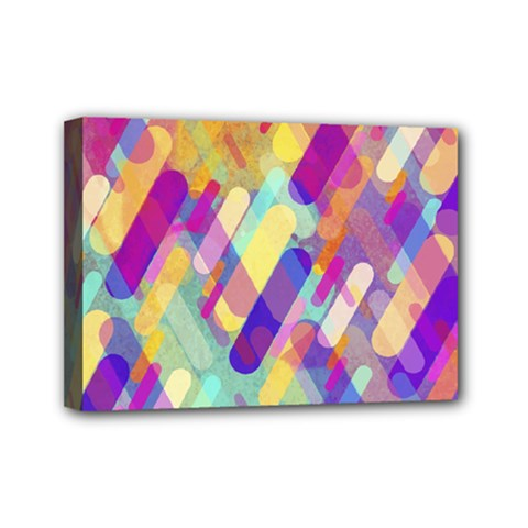 Colorful Abstract Background Mini Canvas 7  X 5