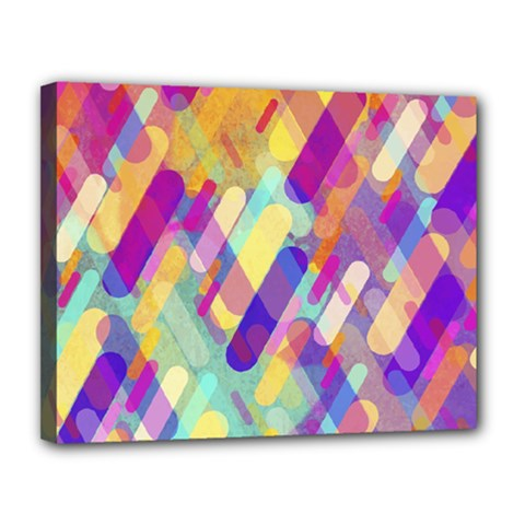 Colorful Abstract Background Canvas 14  X 11