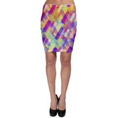 Colorful Abstract Background Bodycon Skirt