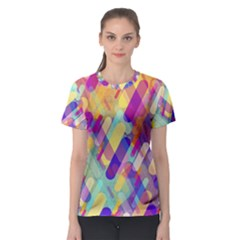 Colorful Abstract Background Women s Sport Mesh Tee