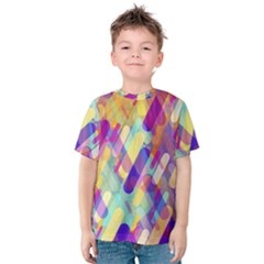 Colorful Abstract Background Kids  Cotton Tee