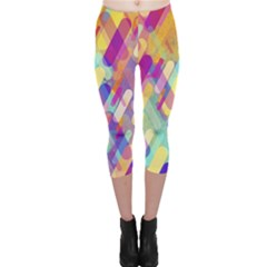 Colorful Abstract Background Capri Leggings