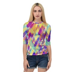 Colorful Abstract Background Quarter Sleeve Raglan Tee