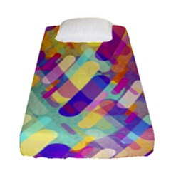 Colorful Abstract Background Fitted Sheet (single Size)