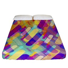 Colorful Abstract Background Fitted Sheet (california King Size)