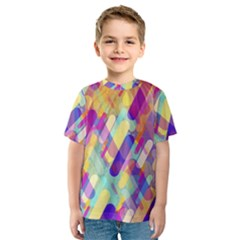 Colorful Abstract Background Kids  Sport Mesh Tee
