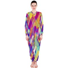 Colorful Abstract Background Onepiece Jumpsuit (ladies)