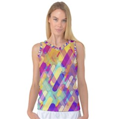 Colorful Abstract Background Women s Basketball Tank Top