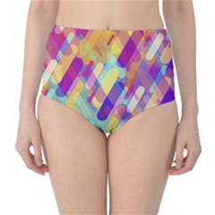 Colorful Abstract Background High Waist Bikini Bottoms