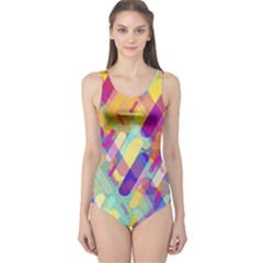 Colorful Abstract Background One Piece Swimsuit