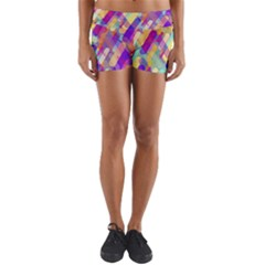 Colorful Abstract Background Yoga Shorts