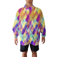 Colorful Abstract Background Wind Breaker (kids)