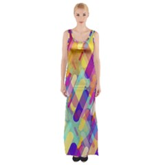 Colorful Abstract Background Maxi Thigh Split Dress