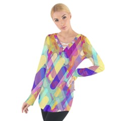 Colorful Abstract Background Tie Up Tee