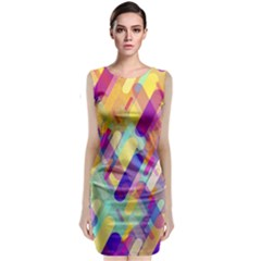 Colorful Abstract Background Classic Sleeveless Midi Dress