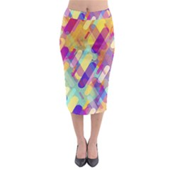 Colorful Abstract Background Midi Pencil Skirt