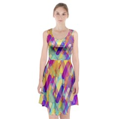 Colorful Abstract Background Racerback Midi Dress