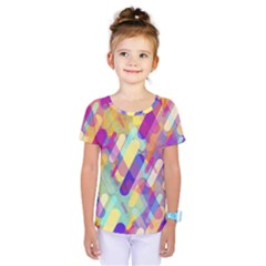 Colorful Abstract Background Kids  One Piece Tee