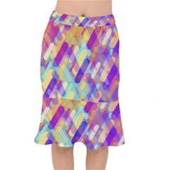 Colorful Abstract Background Mermaid Skirt