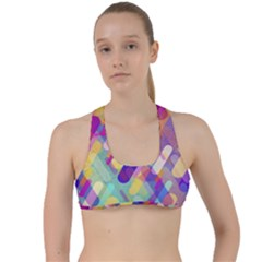 Colorful Abstract Background Criss Cross Racerback Sports Bra