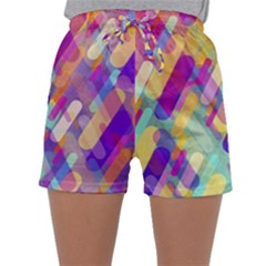 Colorful Abstract Background Sleepwear Shorts