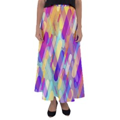 Colorful Abstract Background Flared Maxi Skirt