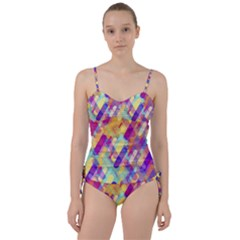 Colorful Abstract Background Sweetheart Tankini Set