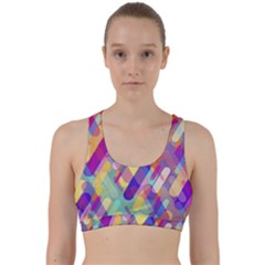 Colorful Abstract Background Back Weave Sports Bra