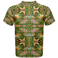 Star Shines On Earth For Peace In Colors Men s Cotton Tee