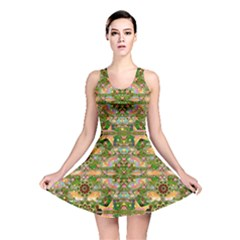 Star Shines On Earth For Peace In Colors Reversible Skater Dress